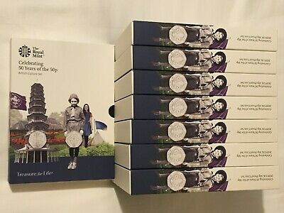 Celebrating 50 Years of the 50p 2019 UK Proof Coin Set Kew Gardens COA-2598