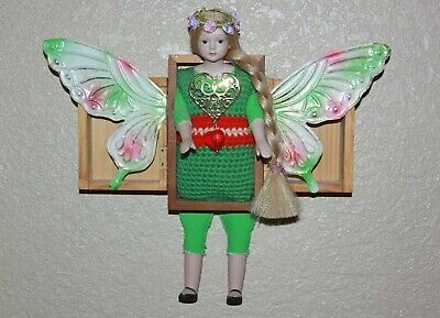 Butterfly Girl with Heart in a Box Assemblage Altered Art Mixed Media