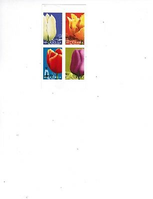 CANADA 2002  TULIPS BOOKLET PANE 4 self ad.  MNH  #1946  cat $5.00  LOT 713