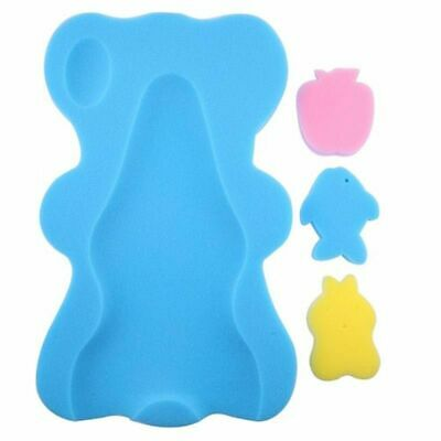 Bath Mat Non-slip Soft Sponge Cushion Newborn Infants Bathing Pad With Baby Toys