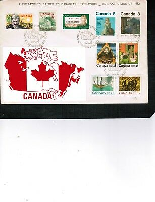 CANADA 1982 SALUTE to CANADIAN LITERATURE 9 stamps on cover # BELOW  LOT 304