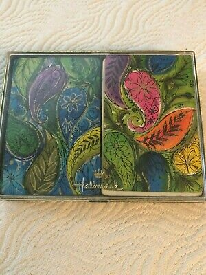 Vintage Hallmark Double Deck Paisley Designs Playing Cards with Plastic Box
