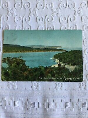 1909 Real Photo Postcard North Head Spit Road Sydney New South Wales seascape