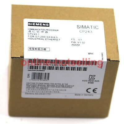 New IN BOX SIEMENS CP243-1 6GK7 243-1EX00-0XE0 PLC tested 6GK72431EX000XE0 #019