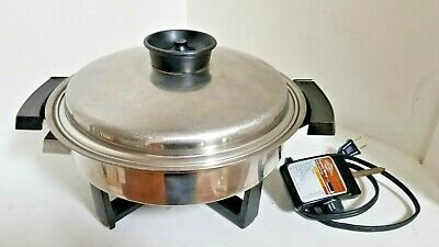 TOWNECRAFT  (17450 )  STAINLESS STEEL ELECTRIC SKILLET with LID - free shipping!