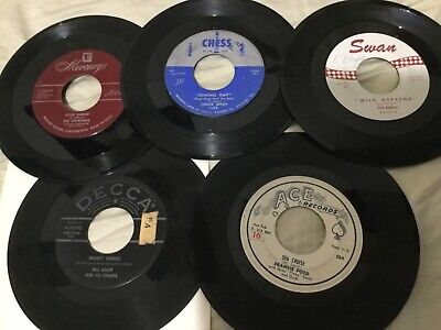 50's ROCK 45rpm Lot Of 5...Chuck Berry...The Diamonds..Bill Haley..VG To VG+