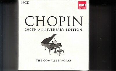 FREDERIC CHOPIN 200th ANNIVERSARY EDITION THE COMPLETE WORKS 16CD 5099996711729