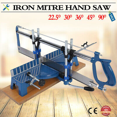 Iron Manual Precision Mitre Hand Saw Angle Woodwork Cutting 22.5 30° 36° 45° 90°
