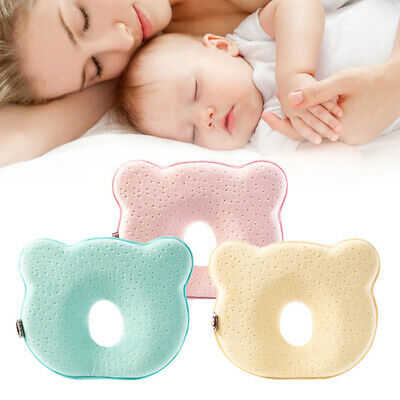 Baby Cot Soft Pillow Prevent Flat Head Memory Foam Cushion Sleeping Support UK