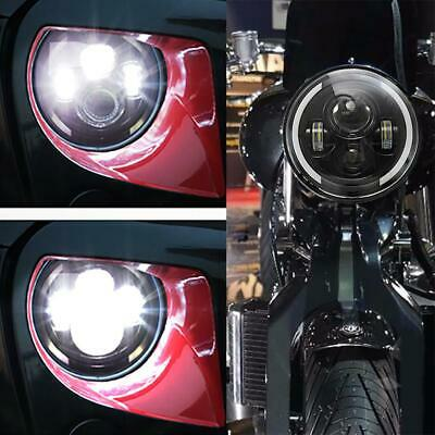 DOT 1PC 7INCH Motorcycle Headlight LED+conversion adapter For Harley