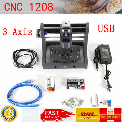 3 Axis 1208 CNC Router USB Engraver Wood PCB Carving Milling Machine 3D Printer