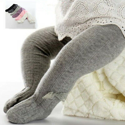 New Infant Tights Solid Leg Warmer Stockings Pants Soft Cotton Baby Girl Tights