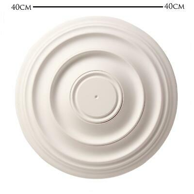 Ceiling Rose Andrina Resin Strong 390mm Lightweight Polyurethane Easy Fix 39cm