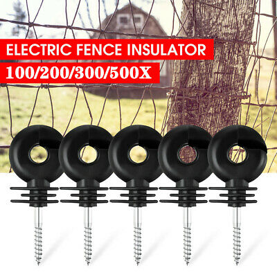 500x Screw In Electric Fence Insulator Wire Tape Wood Timber Post-ring insulator