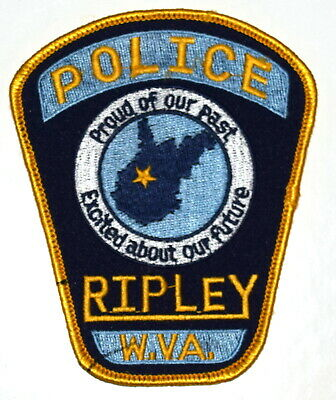RIPLEY WEST VIRGINIA WV Sheriff Police Patch STATE SHAPE OUTLINE CITY STAR ~
