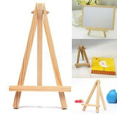 10PCS Mini Artist Wooden Easel Photo Card Stand For Home Party Decor 8*15cm
