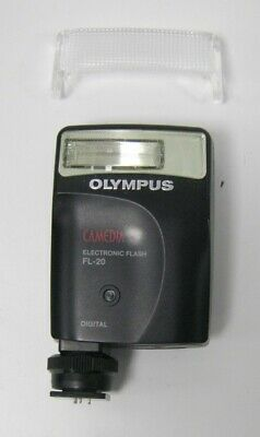 Olympus Fl-20 Camedia Electronic Flash With Diffuser, Original Box And Soft Case