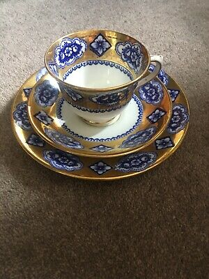 Antique Royal Albert Crown China Tea Trio Cup Saucer Plate Cabinet Set Rare
