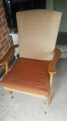 vintage parker knoll armchair retro reading chair fireside chair living room