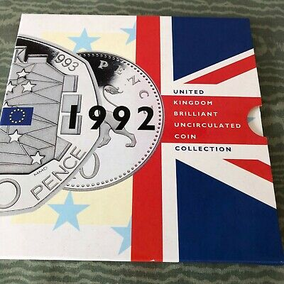 1992 UK United Kingdom Uncirculated coin Collection set with EEC 50p
