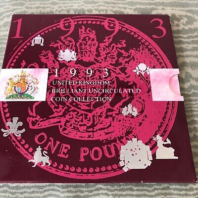 1993 UK United Kingdom Uncirculated Coin Collection Set with EEC 50p