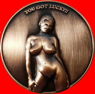 """2"""" Standing Pretty Nudie Challenge coin/card marker Texas Holdem  30"""