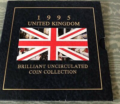 1995 UK United Kingdom Uncirculated Coin Collection Set