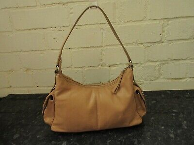 Tula small butter soft caramel leather shoulder bag vgc