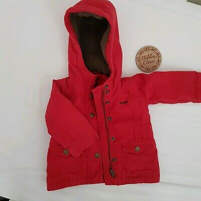 Esprit Red Baby Winter Sherpa Hooded Jacket - Size 6 Months