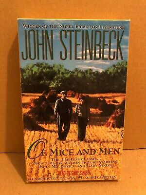 John Steinbeck's Of Mice And Men Cassette Audio Book ... Read By Gary Sinise