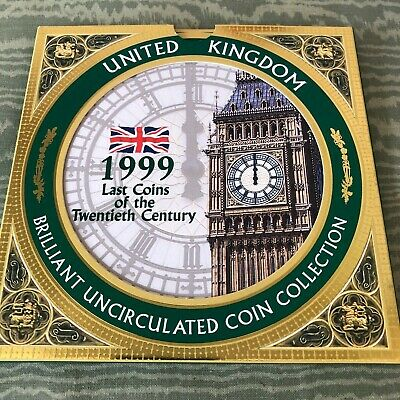 1999 UK United Kingdom Uncirculated Coin Collection Set