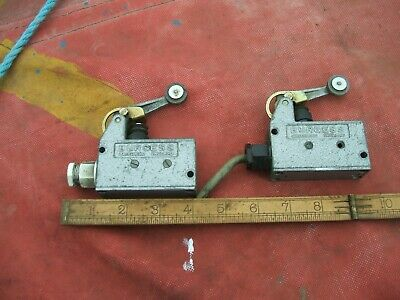 A Pair Of Used Burgess Industrial  Heavy Duty,Electrical  Microswitches