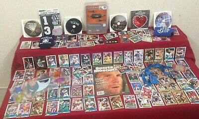 Junk Drawer Lot of Collectibles, Trading Cards, Favre Magazine & Misc  #TX8