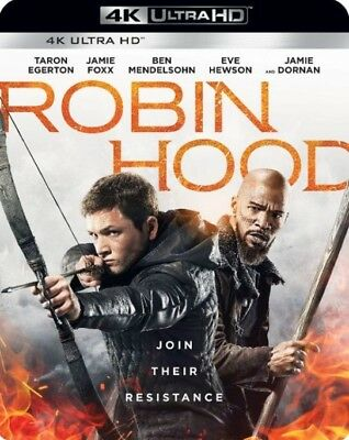 Robin Hood 2018 4K Ultra Hd Blu-Ray, Original Case & Artwork (No Digital)