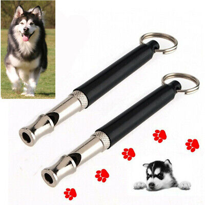 1-5x Adjustable Sound Pet Puppy Dog Training Whistle Silent Ultrasonic Key Chain