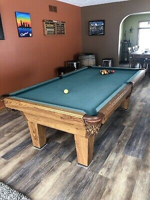 Terrific Olhausen 8 Slate Pool Table With Cues And Accessories And Download Free Architecture Designs Scobabritishbridgeorg
