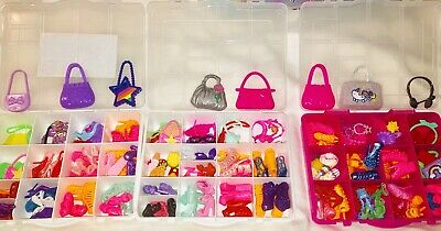 Barbie Doll accessories lot 50 + Items shoes, Jewelry, Purses/Bags , Hair Access