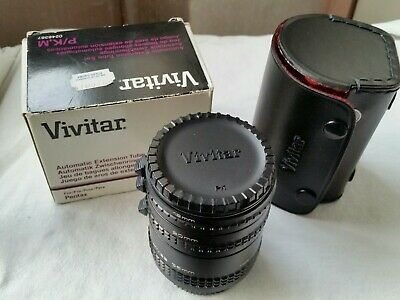 Vivitar Pentax Pk Automatic Extension Tube Set With Case Box