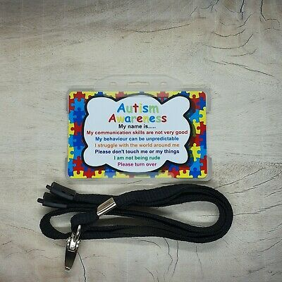 Autism Disability Awareness ID Card Badge - Hidden Disability- personalised