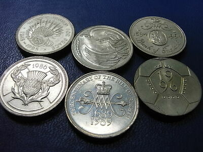 UK £2 circulated coins 1986 to 1996