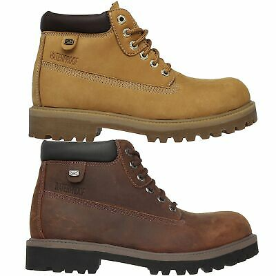 836cb6a54ddc9 Skechers Mens 4442 Sergeants Verdict Memory Foam Waterproof Fashion Boots