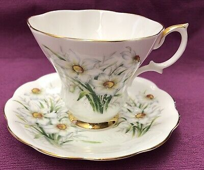 Royal Albert Bone China Friendship Series, NARCISSUS Tea Cup & Saucer, ENGLAND!!