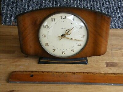 Smiths Antique Deco Clock , 8 Day Floating Balance , Working !