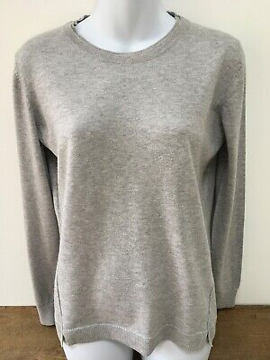 White Stuff Meadow Wool Cotton Blend Jumper Top Sweater Soft Knit Red Teal 8-18