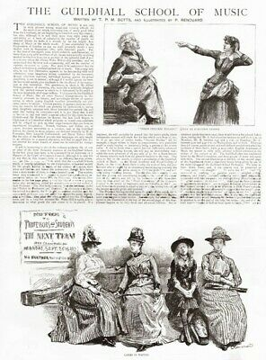 Guildhall School of Music England 1889 Prints & Article