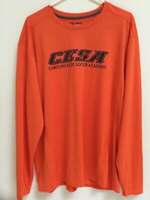 b6cd942e Men's CESA Soccer Long-Sleeve T-shirt, Orange Jersey, Athletic Activewear,
