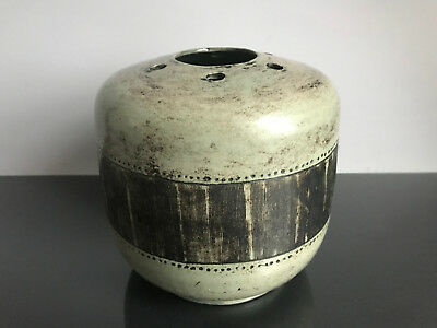 Jacques Blin french studio art pottery Vase abstract sgraffito mid century 50s