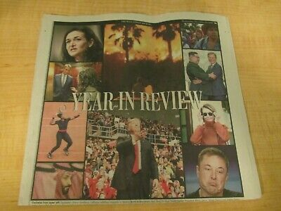 Wall Street Journal Newspaper -  Year in Review - (12/19/18)