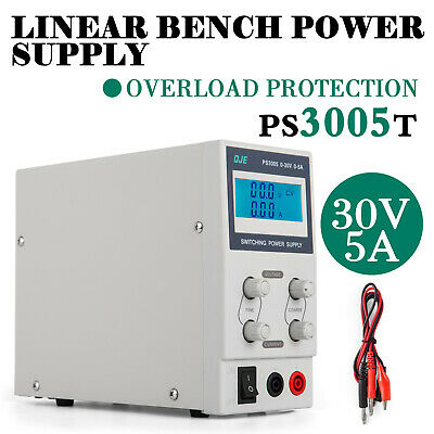 Adjustable DC 0-30V 5A Switching Power Supply PS3005 LCD Display AC 220V Input
