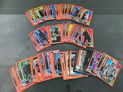 Topps Star Wars Force Attax Trading Cards Bundle (119 cards) inc foil & pop-outs